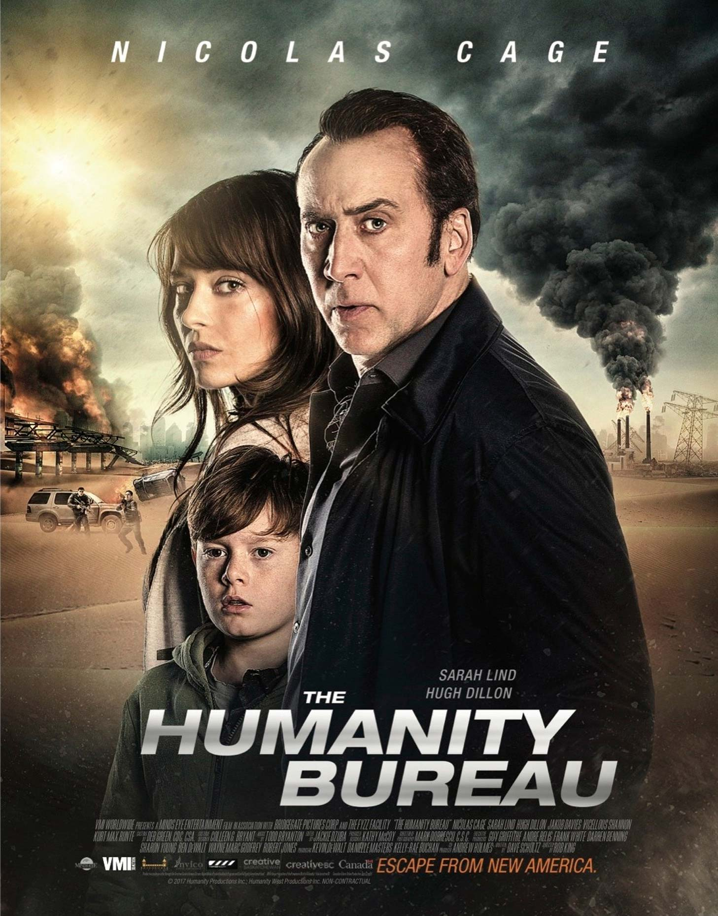 Unit Stills for the film: Humanity Bureau, starring Nicolas Cage and Sarah Lind.  Photographer: Craig Pulsifer