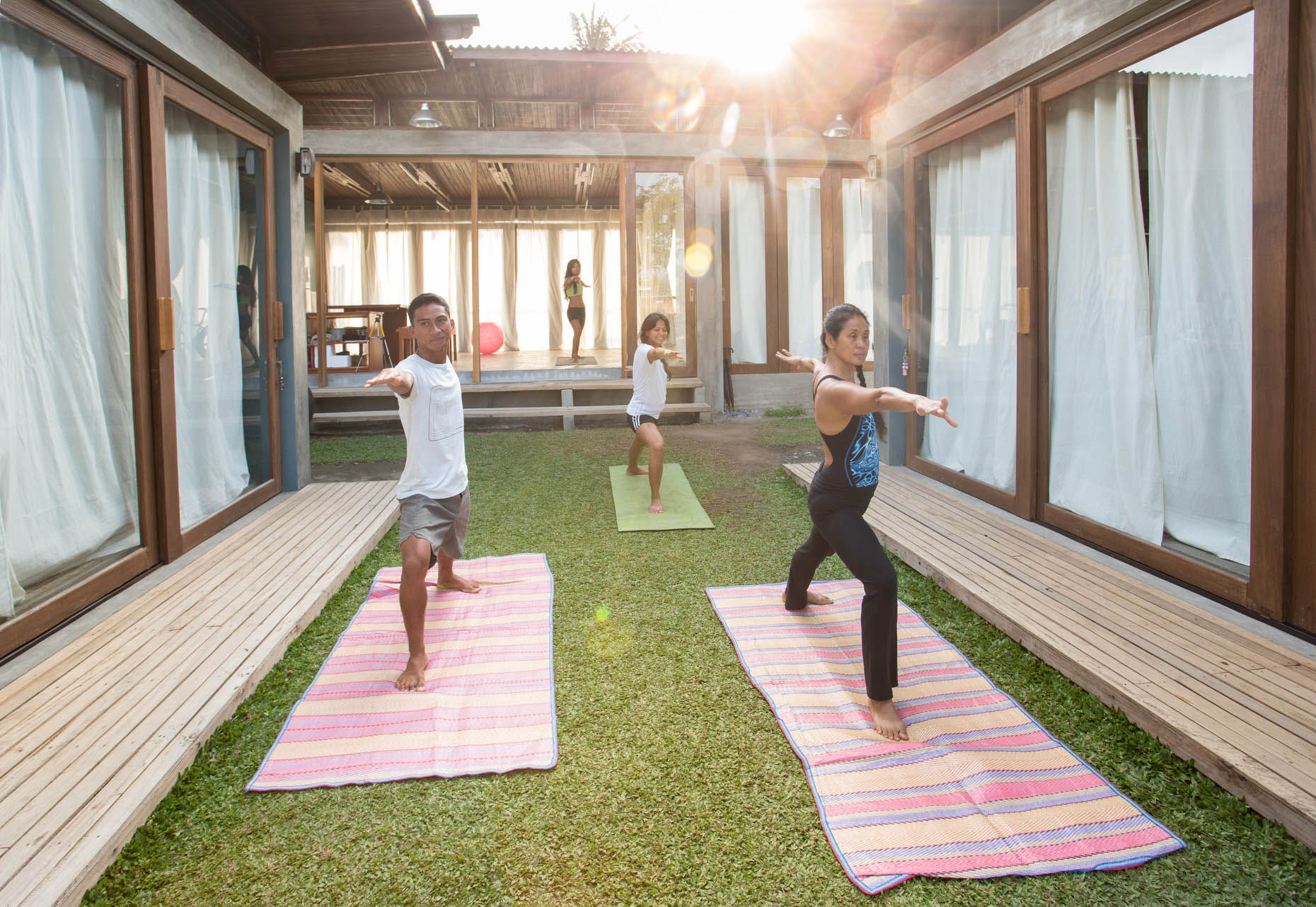 Yoga at Press Start Resort