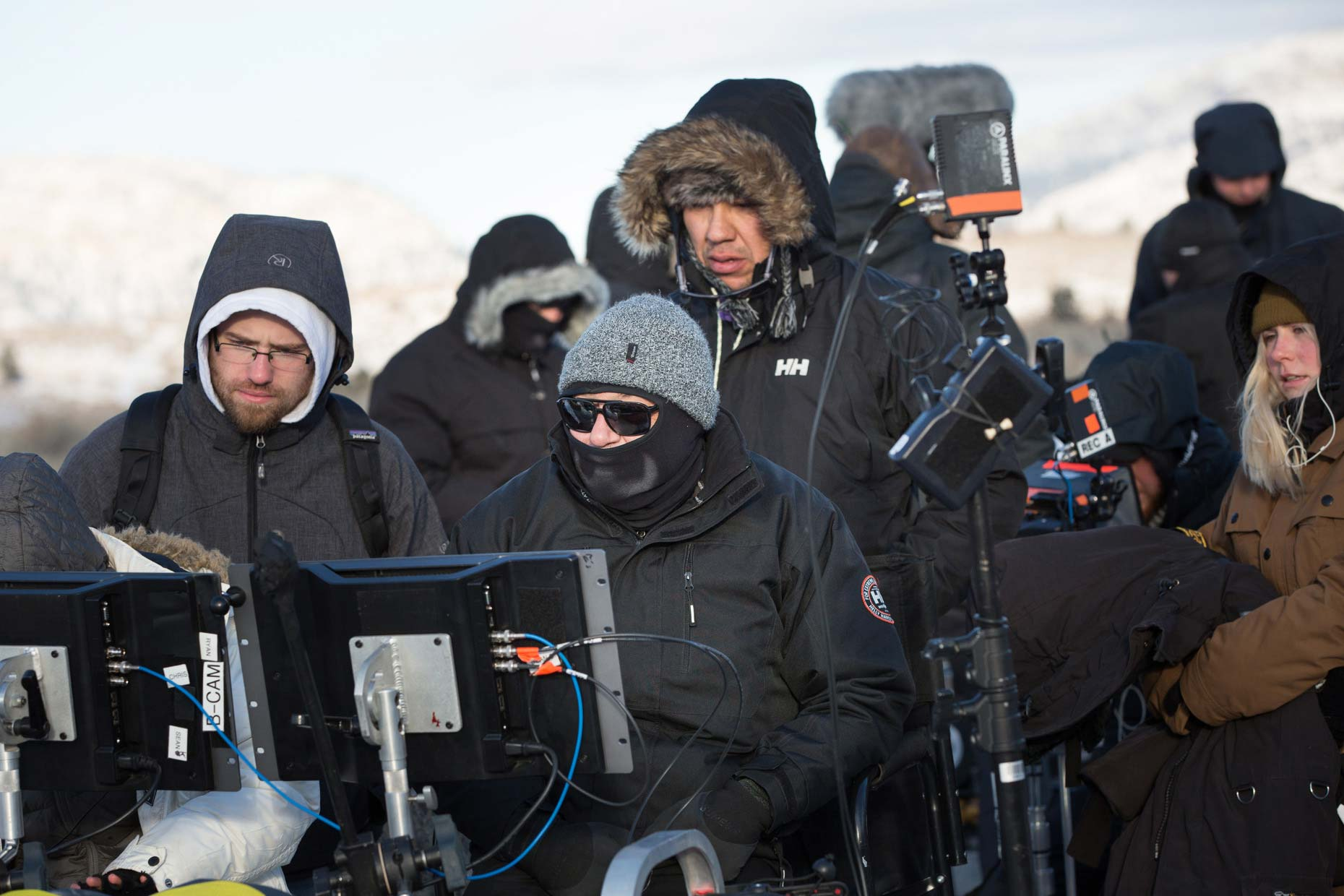 Frozen film crew.  Unit Stills behind the scene photography by Craig Pulsifer
